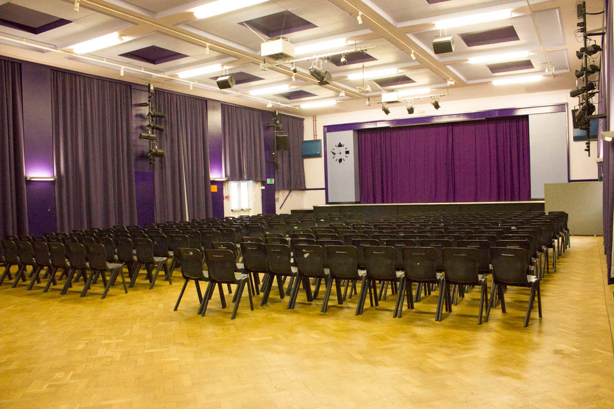 Theatre hall for hire at Chiswick school
