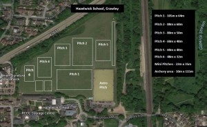 footy pitches