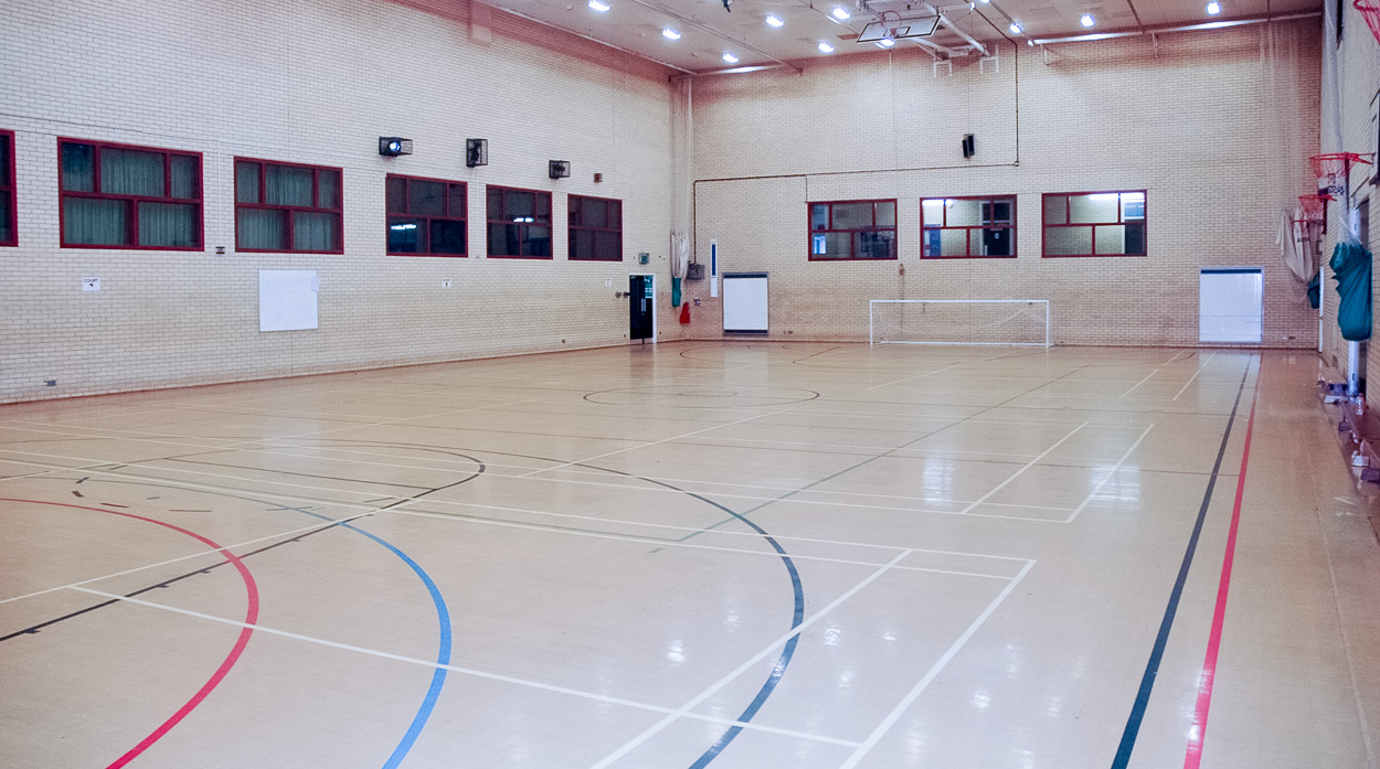 Indoor Sports Hall available to hire.