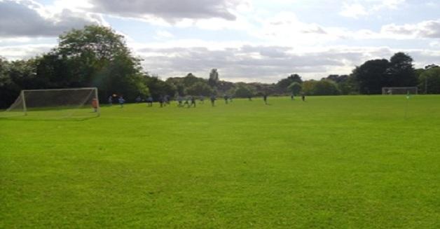 Grass Football Pitch Oaks Park High School