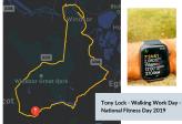 Tony Lock – Walking Work Day – National Fitness Day 2019.