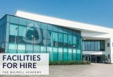 Facilities to hire at Bulwell Academy through Schools Plus