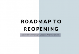 Roadmap to Reopening – Statement from Managing Director Andrew Halliwell
